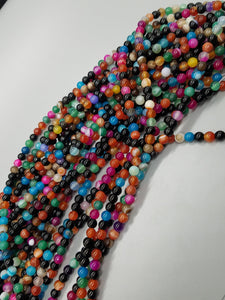 "Multi -color Agate mix 6mm~15"" strand"