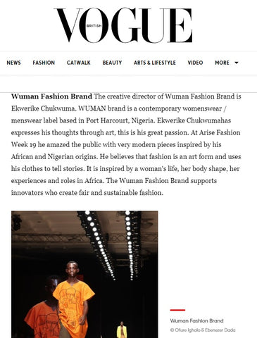 Wuman featured on Vogue