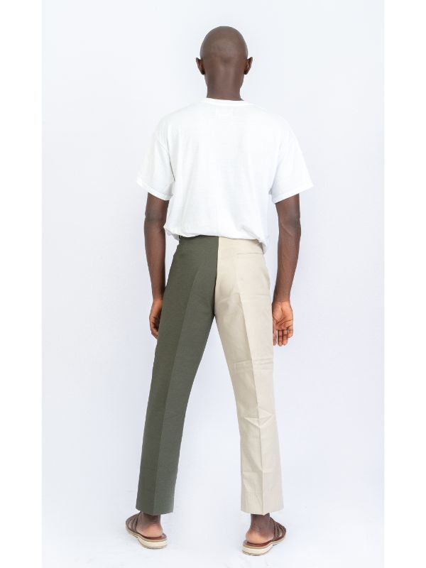 TWO TONE CONTRAST PANTS