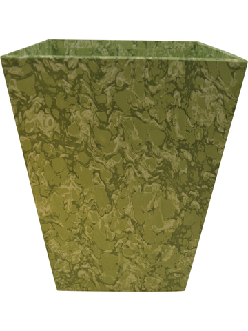 Waste Paper Basket in Light Green Marble Paper