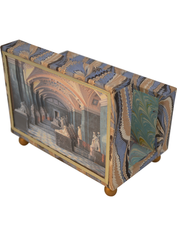 Hermitage First Room of Sculpture Diorama Cartonnage Letter Holder