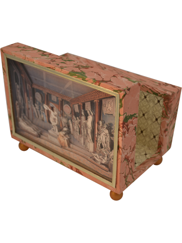 Dining room of Charles Townley Diorama Cartonnage Letter Holder