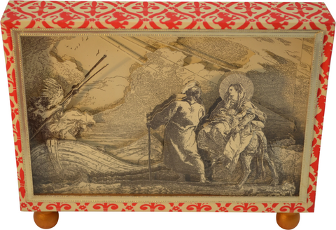 Plate No. 14 Flight into Egypt Diorama Cartonnage Letter Holder