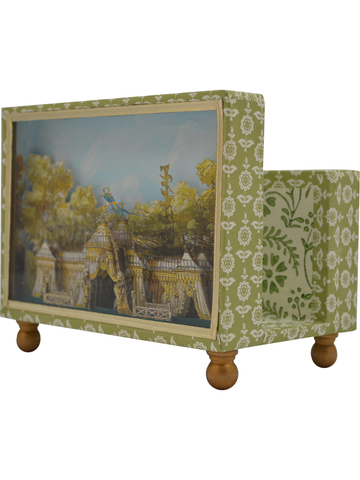 Haga Park Diorama Cartonnage Letter Holder in Green | SOLD OUT (available in other paper)