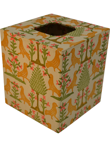 Tissue Box Cover in Siena Italian Paper