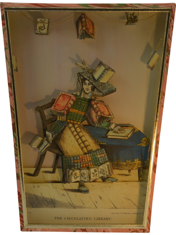 The Circulating Library Diorama Cartonnage Waste Paper Basket