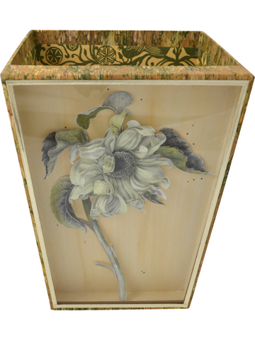 Sunflower Diorama Cartonnage Waste Paper Basket