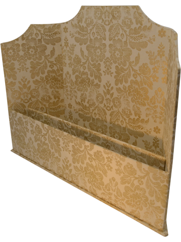Edwardian Triptych Letter Holder in Florentine Metallic Gold Italian Paper