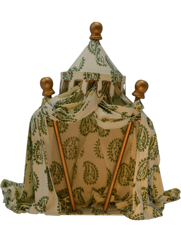 Haga Park Tent in Green Paisley Italian Paper | SOLD OUT (available in other paper)