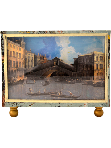 Rialto Bridge Canaletto Diorama Cartonage Letterholder | SOLD OUT (available in other paper)