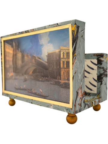 Canaletto Rialto Bridge Diorama Cartonage Letter Holder