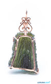 Designer Moldavite Vintage with Bronze coated silver frame