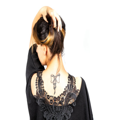 Black lace collar necklace