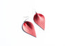 Red petal shaped earrings