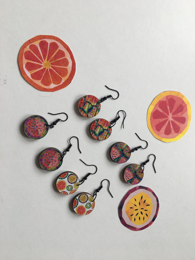 Fruity Jemma Skellett Print Earrings