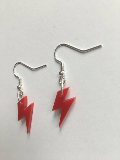 Red bolt earrings