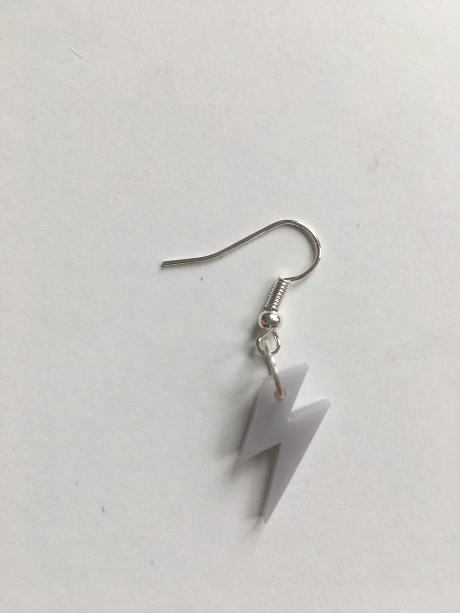 Grey bolt earrings