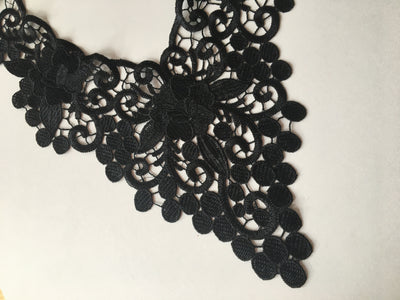 Black lace fabulous necklace