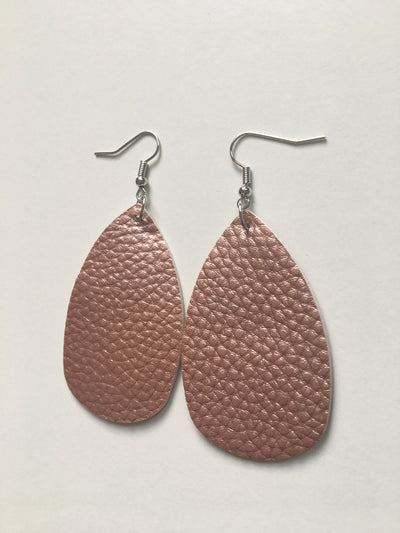 Pale coral tear shaped earrings
