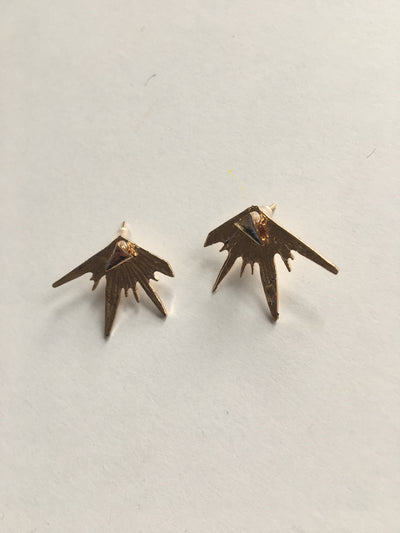 Gold expression earrings