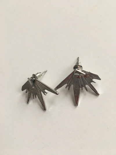 Silver expression earrings