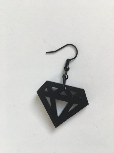 Black diamond dangles