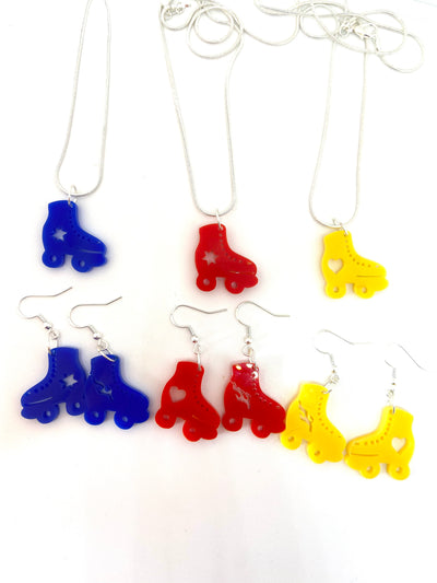 Roller skate acrylic earrings