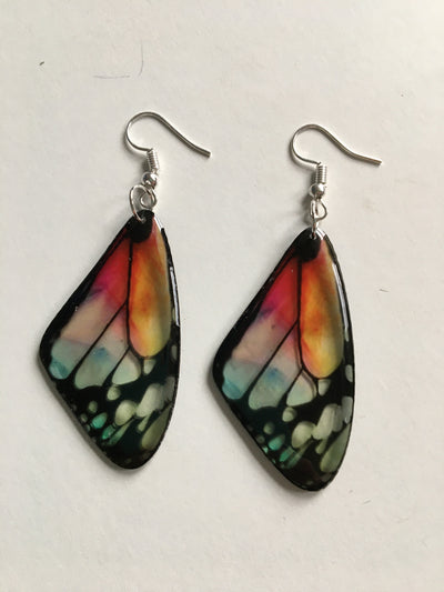 Multicoloured butterfly earrings
