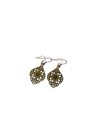 Moroccan bohemian charm dangle - gold