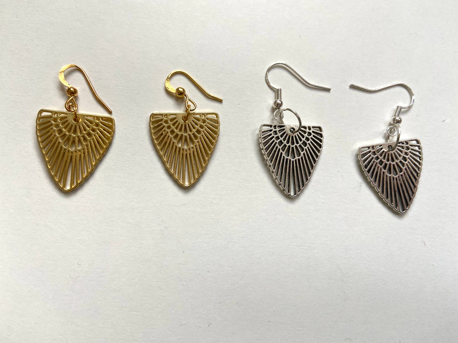 Egyptian inspired brass earrings