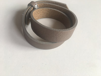 Light brown wide leatherette bracelet