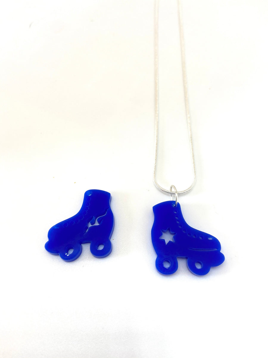 Roller skate acrylic necklaces