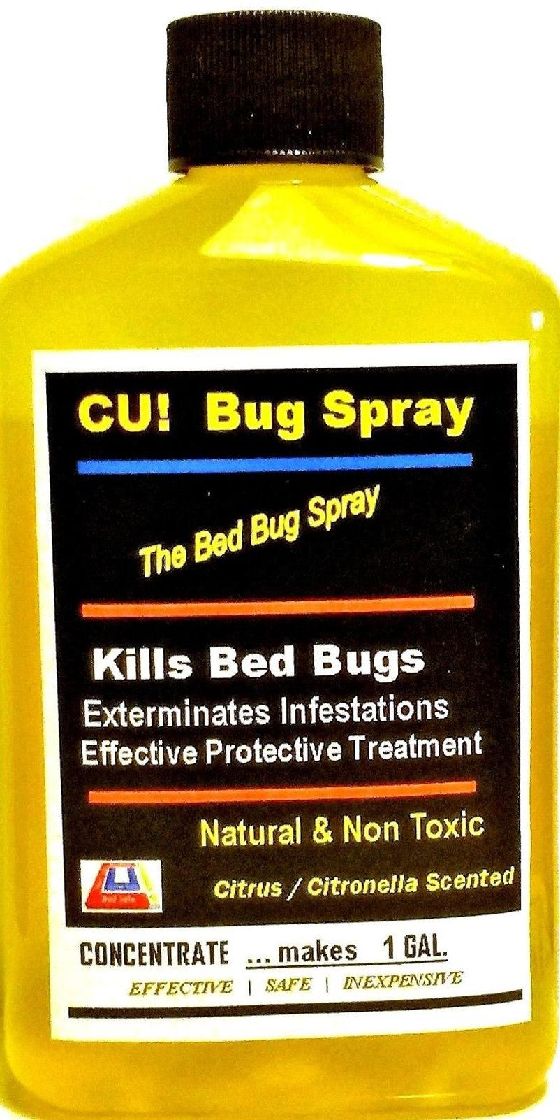 CU! Bug Spray Rids Bed Bugs - CONCENTRATE to make ONE GALLON