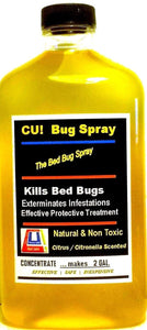 CU! Bug Spray Rids Bed Bugs - CONCENTRATE for TWO GAL.