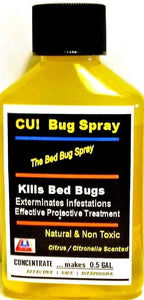 CU! Bug Spray Rids Bed Bugs- CONCENTRATE for 0.5 GAL.