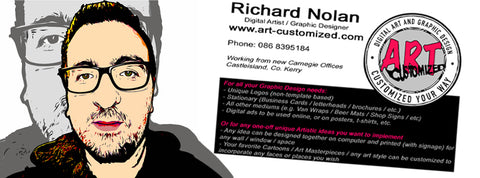 Art-customized Richard Nolan Graphic design illustration digital art castleisland kerry simpsons