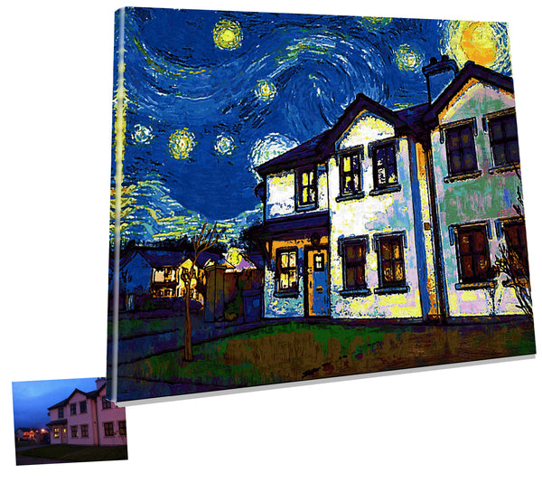 Art-customized Richard Nolan Graphic design illustration digital art castleisland kerry van gogh