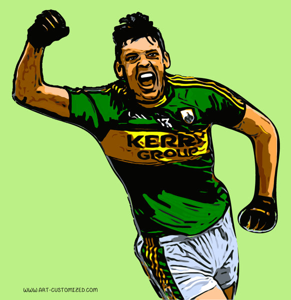 Art-customized Richard Nolan Graphic design illustration digital art castleisland kerry GAA
