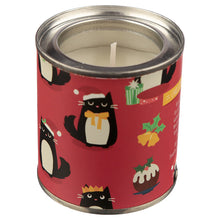 Load image into Gallery viewer, Fragranced Soya Christmas Candle Tin - Cat Festive Feline