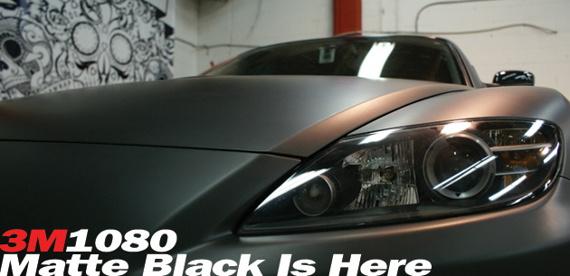 3M1080 matte black wrap kits are here