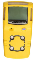 BW Technologies GasAlertMicroClip XL 4 Gas Detector, CO, H2S, LEL and O2, Yellow