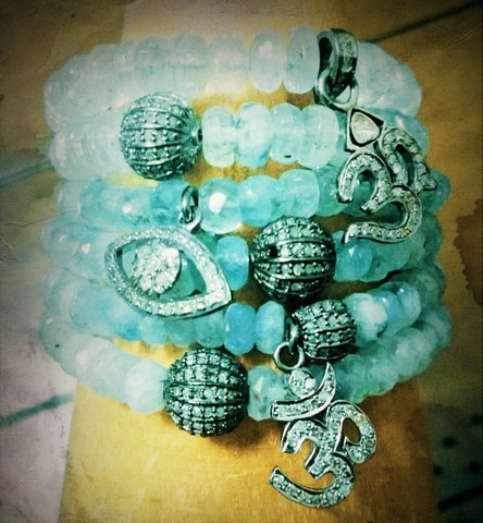 "Aquamarine ""Light of Angels"" Bracelets"