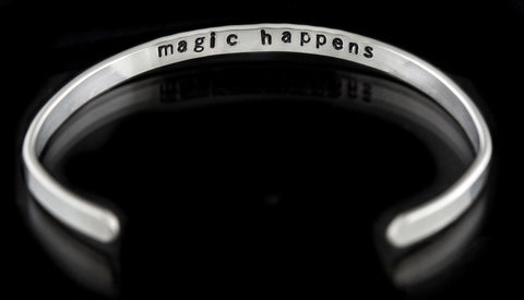 "Soul Intention cuff - ""magic happens"""