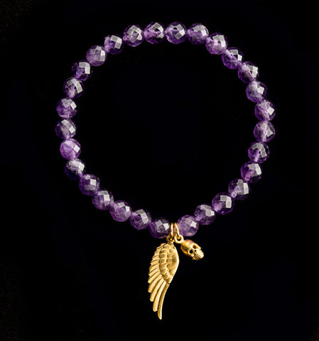 Three Ravens Bracelet-Angel Wing with Skull