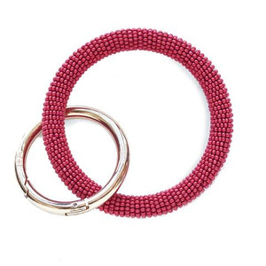 key ring chain beaded loop