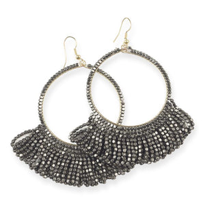 earrings beaded loop