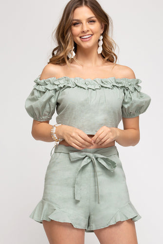 Layla Off The Shoulder Woven Top