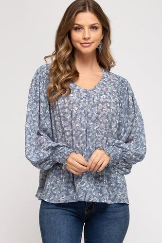 Robyn Long Sleeve Printed Top
