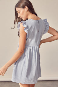 V-Neck Babydoll Dress w/short