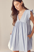 Load image into Gallery viewer, V-Neck Babydoll Dress w/short